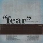 Fear challenge, Week One…