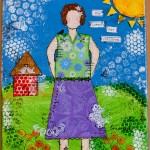 She Art Girl no 4, She loved her Children….