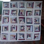 Wonky Log Cabin Quilt Completed!!