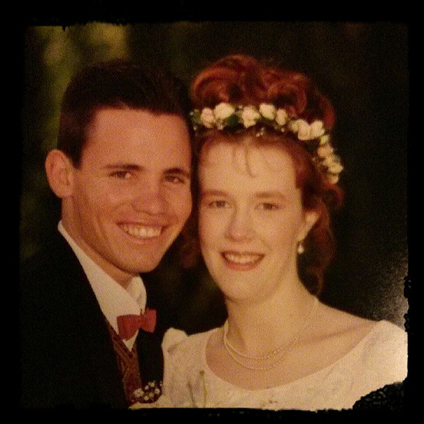 Random wedding photo, just because. We've been together 17 years this month.