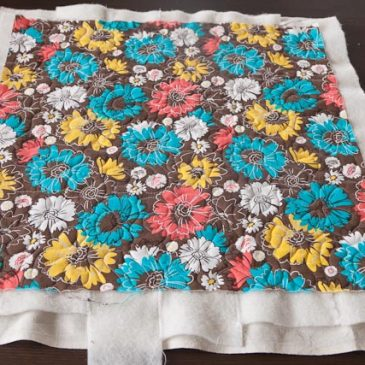 Free motion quilting first sample