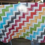 Rainbow Rails Quilt finished
