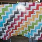 Rainbow Rails Quilt finished