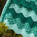 Green ripple crochet blanket finished!