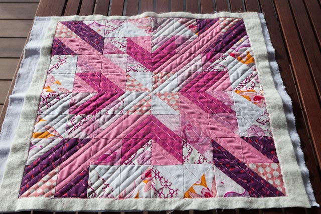 Pink Star Quilted
