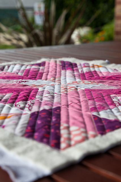 Pink Star Quilted 2