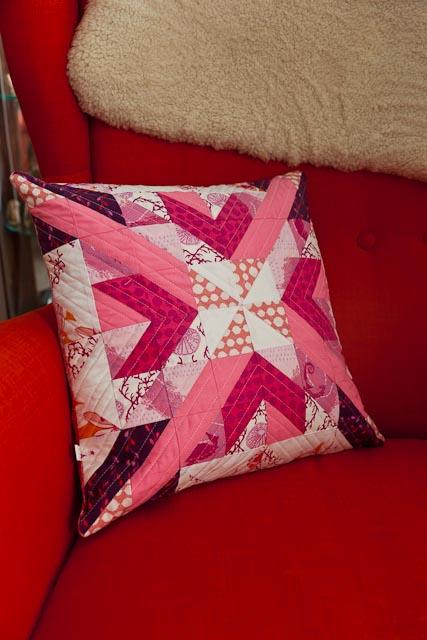 Pink Star Cushion
