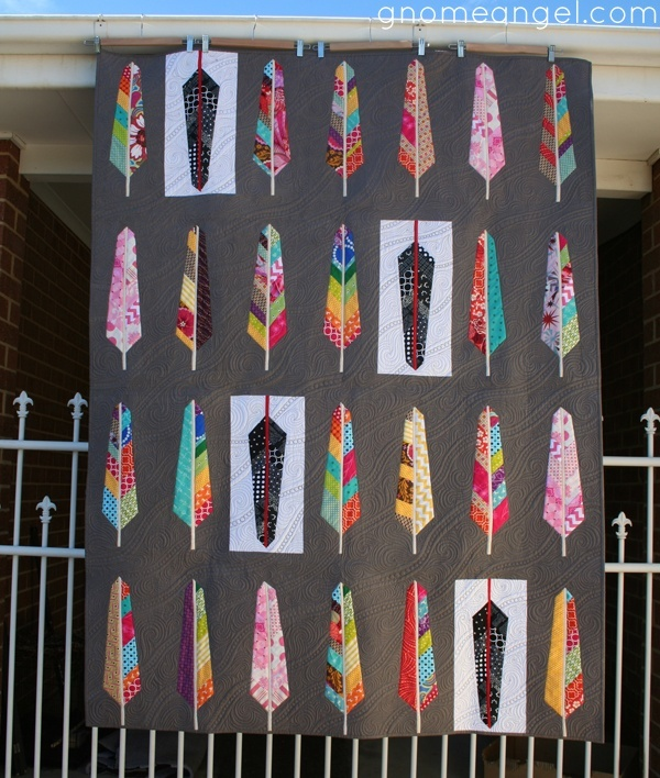 Amazing feather quilt by Angie aka Gnomeangel
