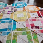 Bee quilt progress, Trellis Crossroads block
