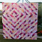 Candy Ripples Quilt top finished