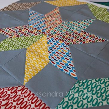 August Simply Retro Challenge block completed