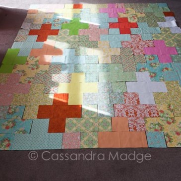 How to make a plus quilt….. with a lot less work!