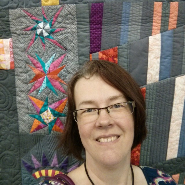 Awkward selfie in front of Gemma's amazing quilt.