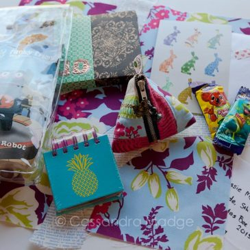 Quilty Sisters parcel for Jo