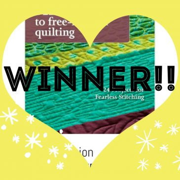 Free-motion quilting book WINNER