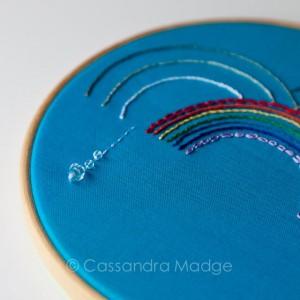 Rainbow Hoop Art