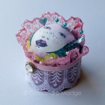 A pincushion fit for a Queen!