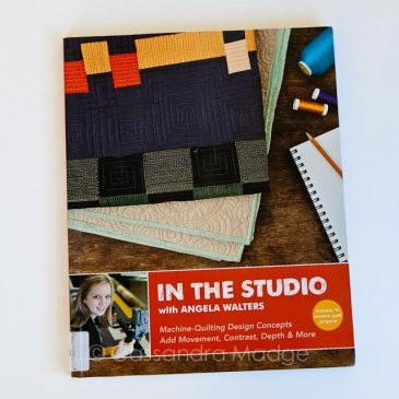 July quilting book review – In Angela's studio!