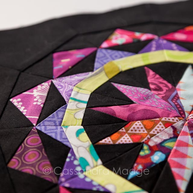 Celestial star paper piecing block