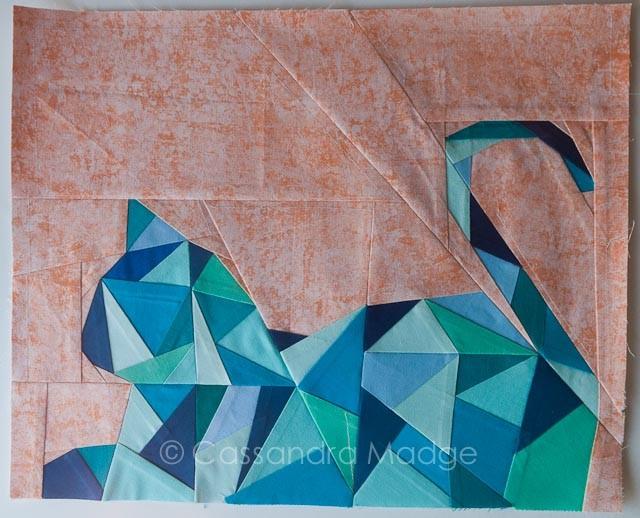 Geometric Kitty - mini by Cassandra Madge