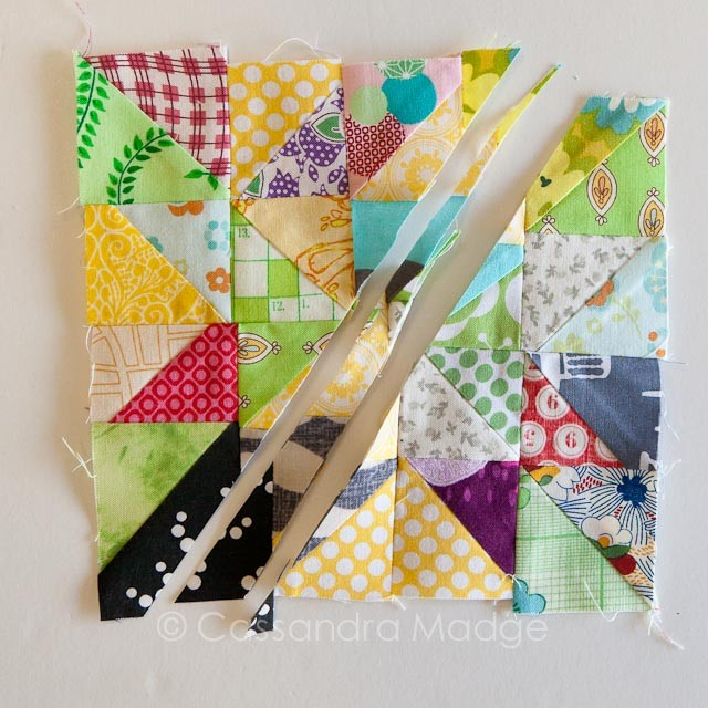 Scrap therapy ASD quilt - Cassandra Madge