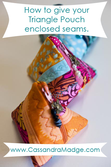 How to Enclosed Seams Triangle Pouch