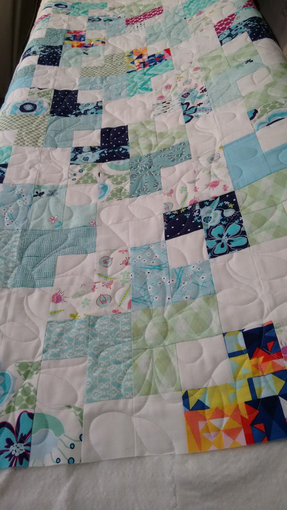 Swell Daisies quilt finished HQ Avante