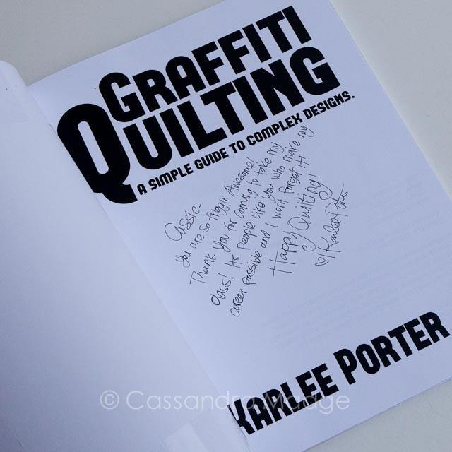 Karlee Porter autographed Graffiti Quilting book