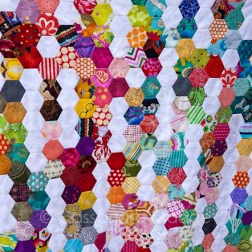 Summer Rain Quilt – Hexagon in progress