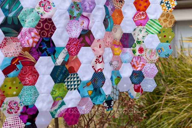 Summer Rain hexagon quilt - Cassandra Madge
