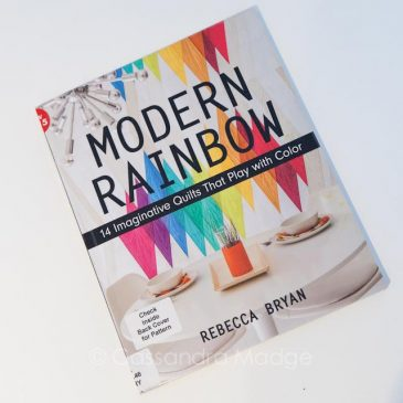 October quilting book review – Modern Rainbow
