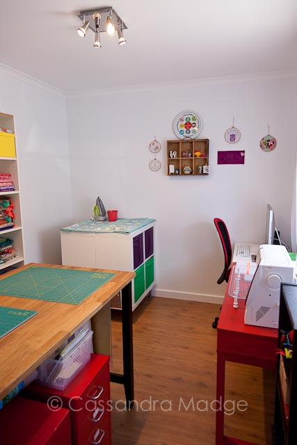 My sewing studio which has been purpose renovated just for me!