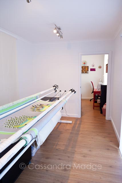 My beautiful Longarm Quilting Studio - Juicy Quilting