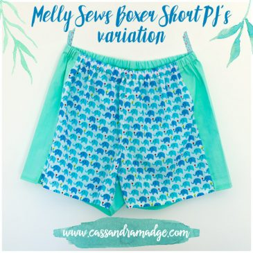 Melly Sews Boxer Short PJ's Variation