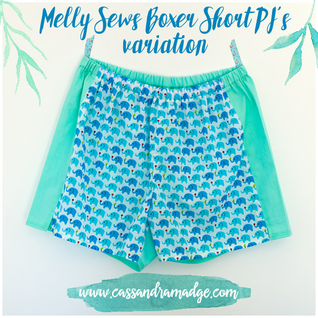 Melly Sews Boxer PJ Cassandra Madge