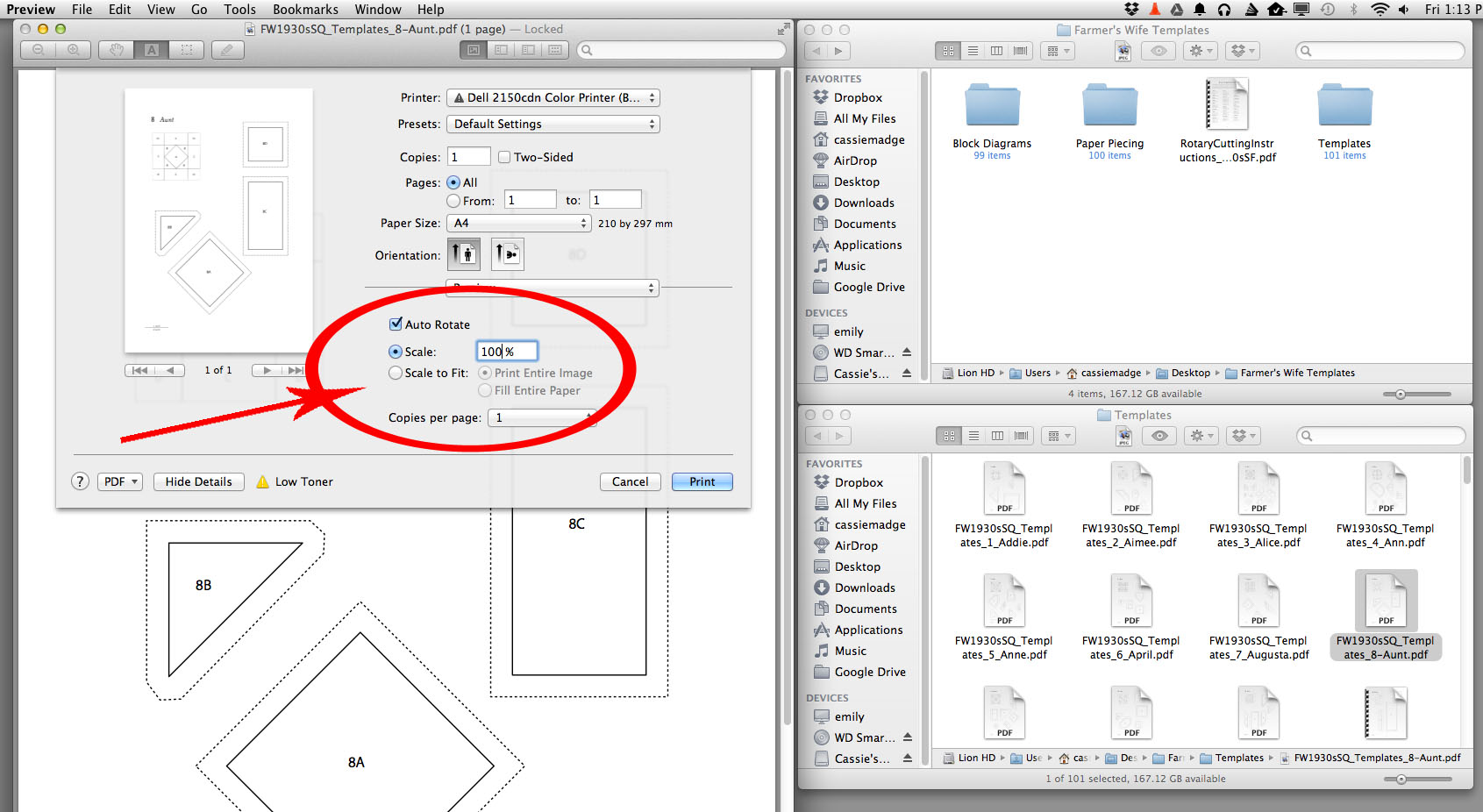How to print your pdf templates using a MAC - Cassandra Madge
