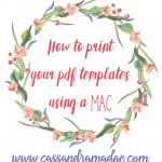 How to print pdf templates on your Mac