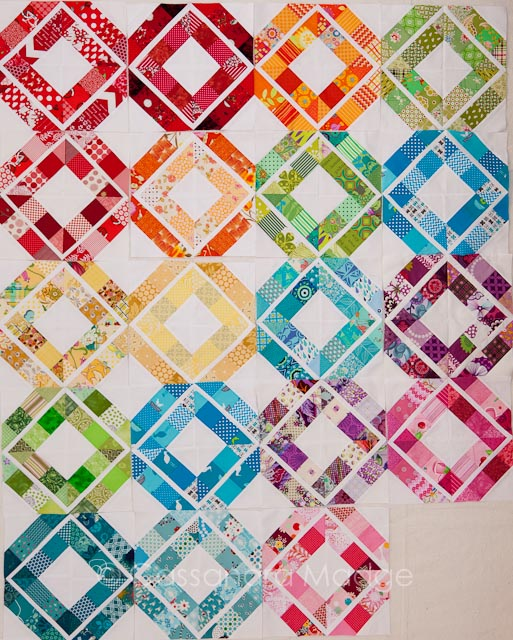 Trellis Crossroads Modern Bee blocks - Cassandra Madge