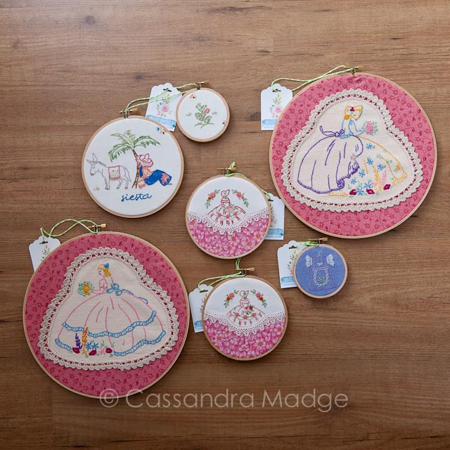 Vintage Embroidery Hoop Wall Art Cassandra Madge