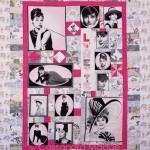 Audrey Hepburn on the quilt frame