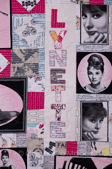 Audrey Hepburn quilt - Juicy Quilting Cassandra Madge