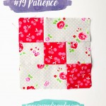 Farmer's Wife 1930's block 79 – Patience – the versatile 9-patch