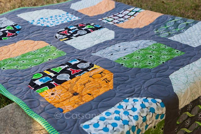 Chemistry Teacher Quilt - Cassandra Madge