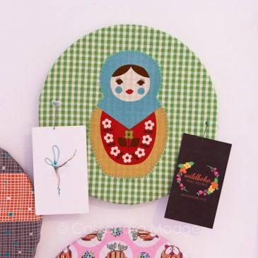 Super quick fabric cork boards to organise your sewing space