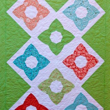 Chic stars on the quilt frame