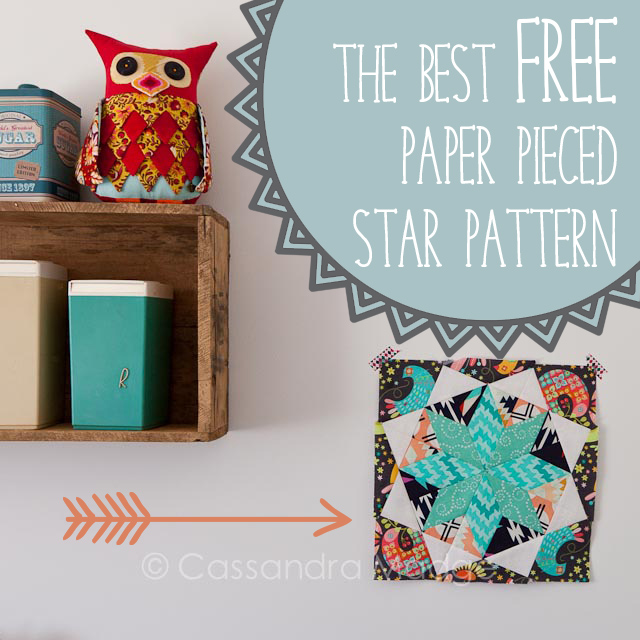 Best Free Paper Pieced Star - Cassandra Madge