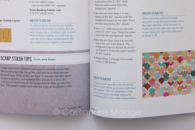 Scraps inc Vol 1 - Quilting book review Cassandra Madge