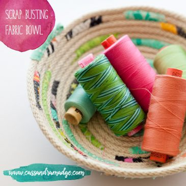 Fabric scrap-busting with a rope bowl!