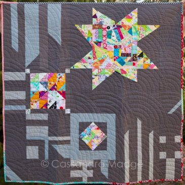 Improv Star Quilt – 2016 Finish