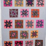 Slashed Stars on the quilting frame
